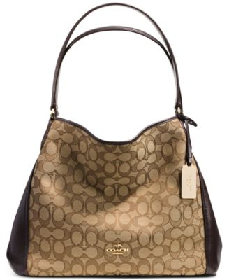 COACH Edie Shoulder Bag 31 in Signature Jacquard