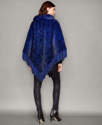The Fur Vault Knitted Mink Fur Fringe ..