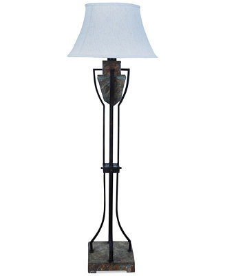 slate metal floor lamp lighting lamps for the home macy. Black Bedroom Furniture Sets. Home Design Ideas