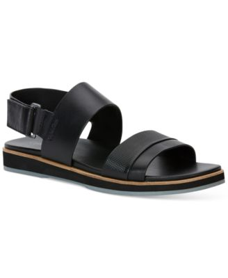 Calvin Klein Mens Dex Leather Sandals