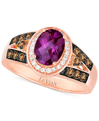 Le vian chocolatier raspberry rhodolite garnet 1 1 2 ct for Macy s jewelry clearance
