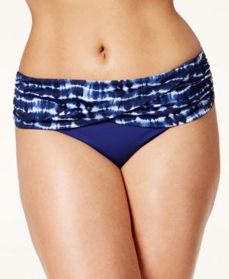 Bleu by Rod Beattie Plus Size Foldover Ive Got You Babe Bikini Bottoms