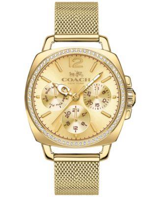 COACH WOMEN'S BOYFRIEND GOLD-TONE STAINLESS STEEL MESH BRACELET WATCH 34MM 14502490