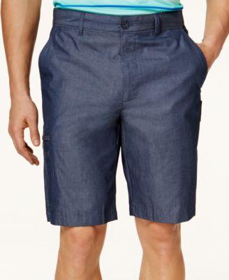 Greg Norman for Tasso Elba Mens Big & Tall 5-Iron Cross-Dyed Shorts