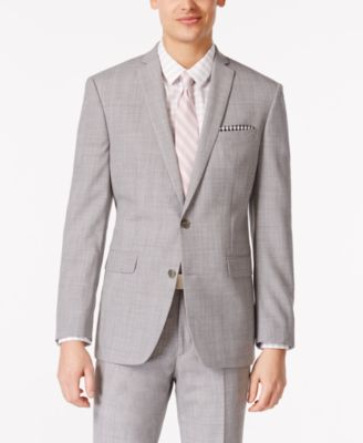 Bar III Mens Light Grey Slim Fit Jacket