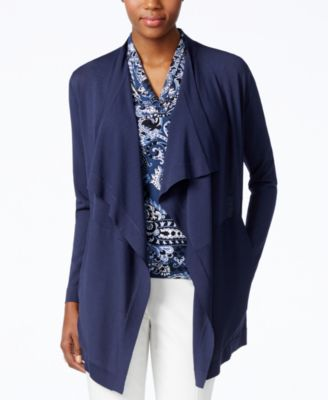 Anne Klein Draped Open Cardigan