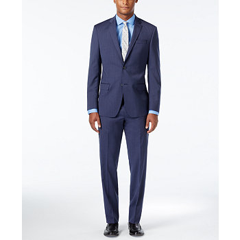 DKNY Mens Slim Fit Suit