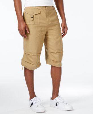 Sean John Mens Lightweight Solid Utility Shorts