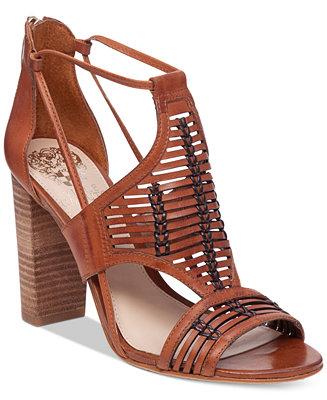 Vince Camuto Ceara Huarache Block Heel Dress Sandals