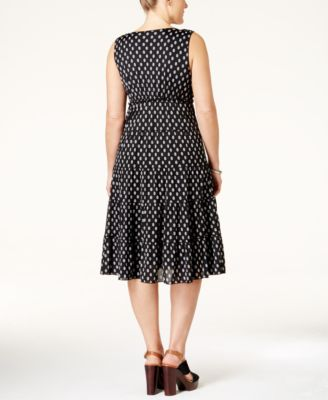 Style & Co. Plus Size Printed Tiered A-Line Dress