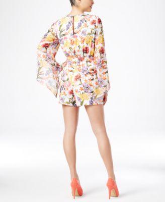 Thalia Sodi Floral-Print Bell-Sleeve R..