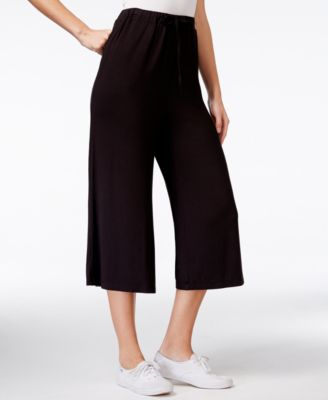 Betsey Johnson Wide-Leg Cropped Pants