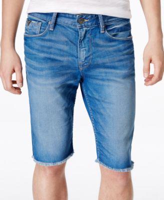 GUESS Mens Slim-Fit Cutoff Golden Ray Jean Shorts