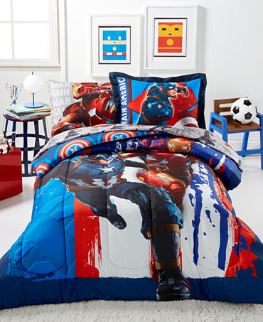 Marvel 39 S Captain America Civil War 5 Piece Bedding