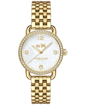 COACH Women's Delancey Gold-Tone Stainless Steel Bracelet Watch 28mm 14502478