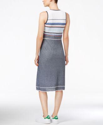 RACHEL Rachel Roy Striped Sleeveless Dress
