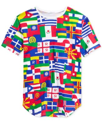 Reason Mens Flags of the World Graphic T-Shirt