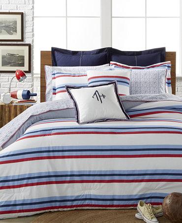 Tommy hilfiger edgartown stripe bedding collection bedding collections bed bath macy 39 s for Tommy hilfiger bedroom furniture