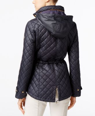 MICHAEL Michael Kors Hooded Faux-Leath..
