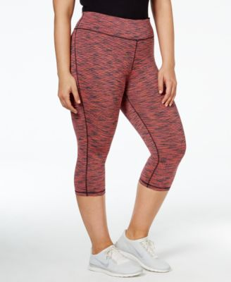 Ideology Plus Size Spaced-Dyed Cropped Leggings, Only at Macy's
