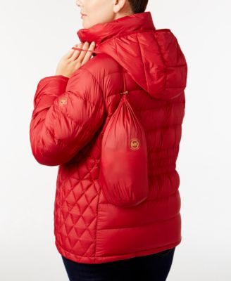 MICHAEL Michael Kors Plus Size Hooded Packable Down Puffer Coat