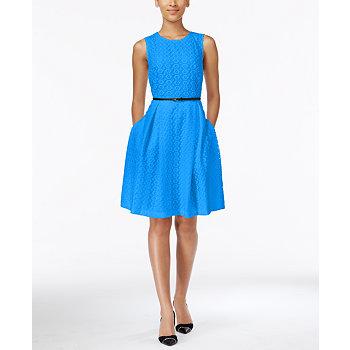 Calvin Klein Floral Lace Womens Dress