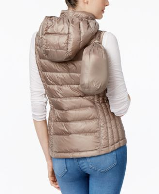 32 Degrees Packable Down Hooded Puffer Vest