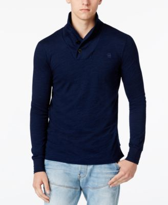 G-Star RAW Mens Ezra Indigo Shawl-Coll..