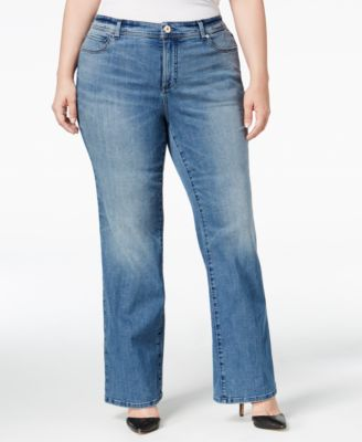 INC International Concepts Plus Size Monday Wash Bootcut Jeans, Only at Macy's