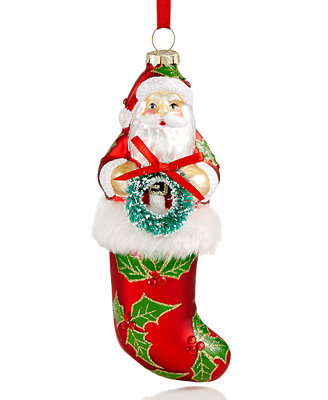 holiday lane santa in stocking ornament only at macys id