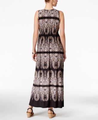 Style & Co. Printed Maxi Dress