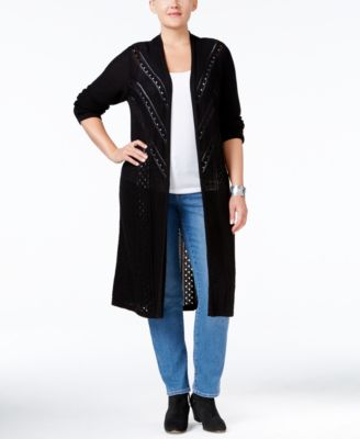 Style & Co. Plus Size Duster Cardigan, Only at Macy's
