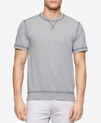 Calvin Klein Jeans Mens Short-Sleeve Crewneck Sweatshirt