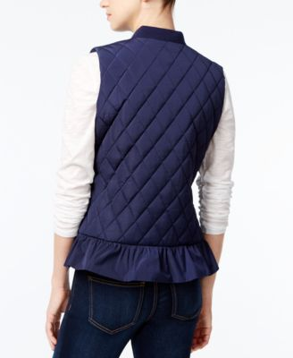 Maison Jules Quilted Ruffled Vest