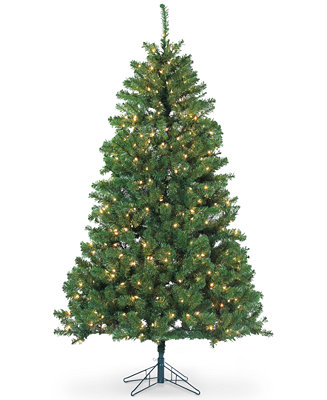 Sterling 7' Dakota Pine Christmas Tree with Clear Lights ...