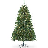 Gerson & Gerson Sterling 7-ft Dakota Pine Christmas Tree