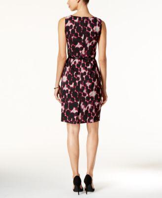Kasper Jacquard Printed Sheath Dress