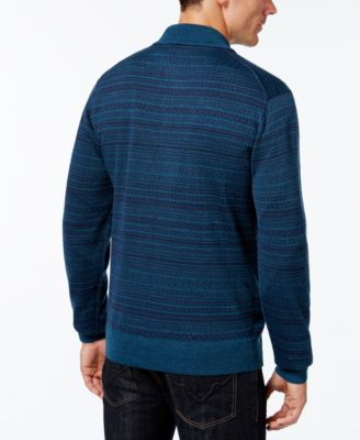 Cutter & Buck Mens Big and Tall Douglas Fair Isle Sweater