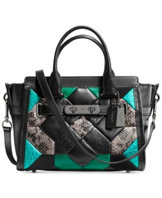 COACH Canyon Quilt Swagger 27 Carryall in Exotic Embossed Leather