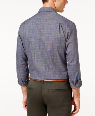 Tasso Elba Mens Classic Fit Long-Sleeve Woven Shirt