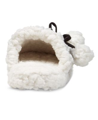 Charter Club Faux Sherpa Scuff Slippers