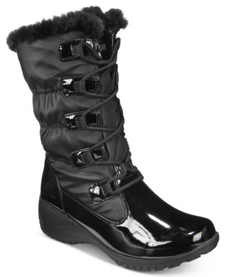 Khombu Womens Audrey Lace-Up Cold-Weather Boots