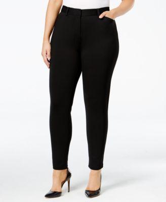 Calvin Klein Plus Size Ponté Skinny Compression Pants