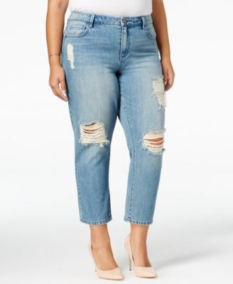 RACHEL Rachel Roy Curvy Trendy Plus Size Ripped Jeans, Only at Macy's