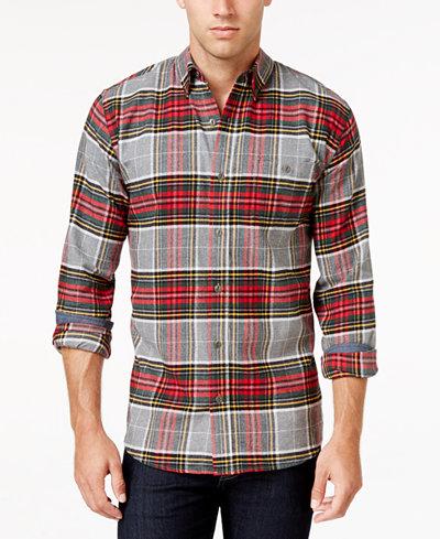 Weatherproof vintage men 39 s plaid flannel shirt classic for Weatherproof vintage men s lightweight flannel shirt