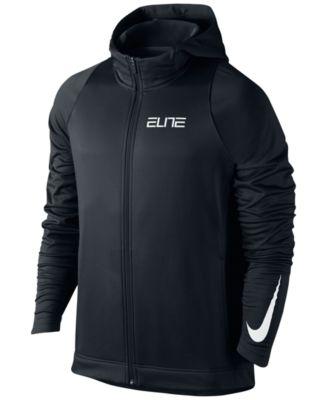 Nike Mens Therma Elite Zip Basketball Hoodie