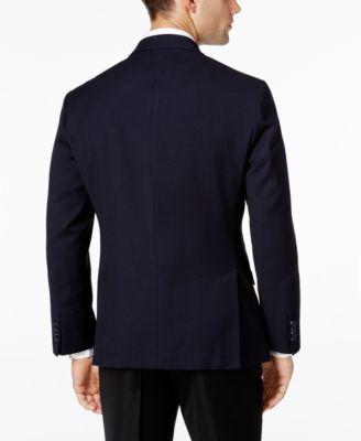 Kenneth Cole Reaction Mens Slim-Fit Soft Navy Geo Sport Coat