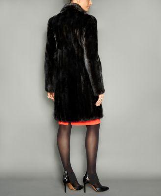 The Fur Vault Notched-Collar Mink Fur Coat