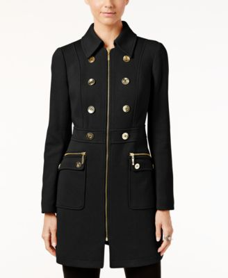 INC International Concepts Petite Double-Breasted Peacoat