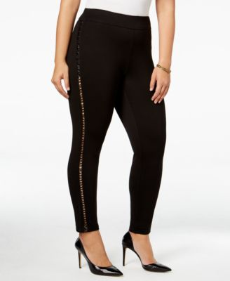 mblm by Tess Holliday Trendy Plus Size Cutout Leggings